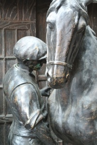 There were lots of bronze statues, mostly of horses.  I was very drawn to this one.  Great emotion.