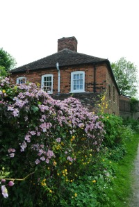 Lock side house with great roses.