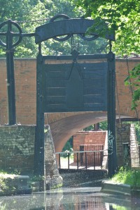 The newly restored guillotine locks coming into Birmingham