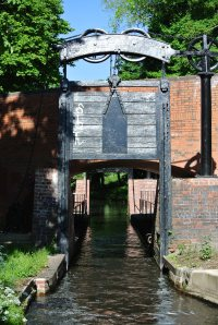 The newly restored guillotine locks coming into BirminghamThe newly restored guillotine locks coming into Birmingham