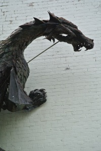 The dragon on the wall