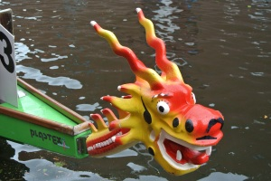 The front of the dragon boat.
