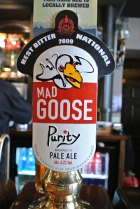Mad Goose pale ale.  Brewed locally