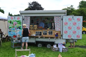 Very floral food van.   Nice for a cup of tea.