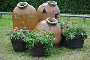 Stone Urns.