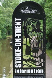 Stoke on Trent sign posts.