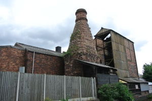 Disused factory, with bottle kiln