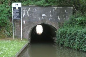The tunnel from the basin end.