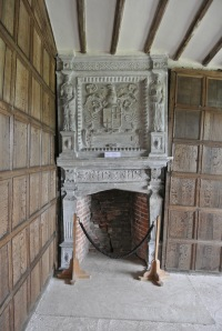 Allegedly the fireplace and mantel are square, nothing around it is.