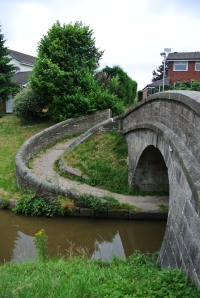 Beautiful snake bridge.  Curls around and over so you didn't have to remove the horses