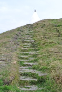 Steps up to the White Nancy