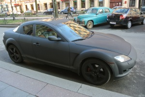 Russia - whats the fascination with matte paint.   It looks like a chalk board.
