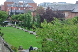 Looking down on the Roman Garden