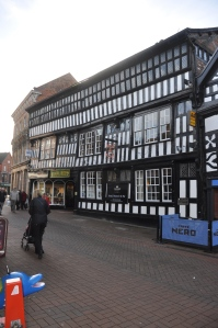 The town was built around the same time as Chester.  Very similar buildings.