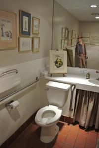 Ghost of John Wayne in the corner.  Life size.