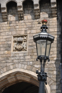 Windsor gate - note the crown on the light fitting.