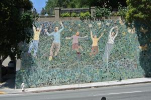 Murals on the school wall.
