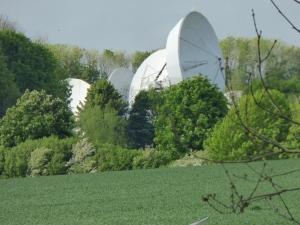Many satellite dishes