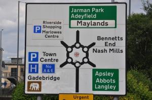 The roundabout from hell.   Hemel Hempstead.