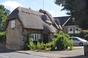Look at that thatched roof!