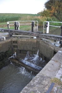 Showing a cill in a lock.