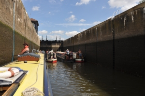 Huge locks, there were 4 boats in with us.   With room for 6 more.