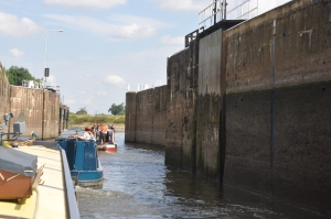 Leaving the lock.