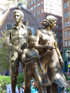 Memorial to the Potato Famine.