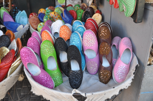 Local shoes.   Colorful