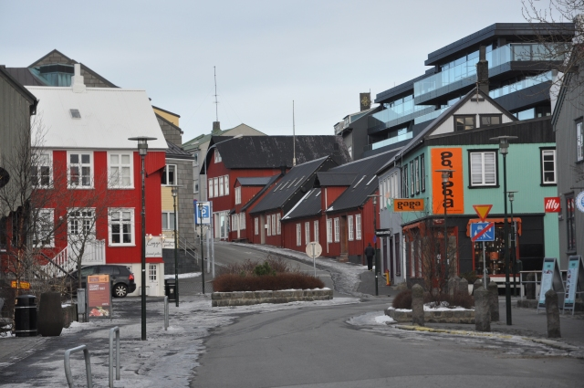 Colored houses in the old town