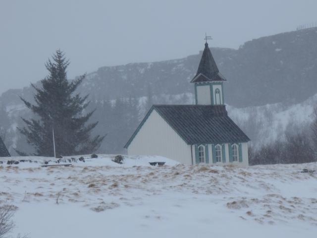 Church in the mist.