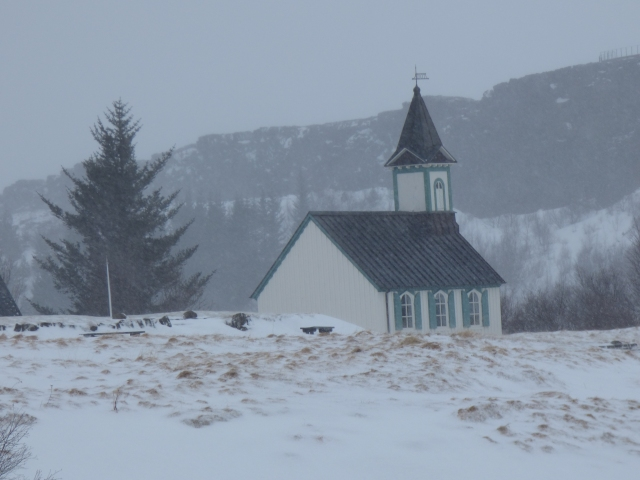 Church in the mist.