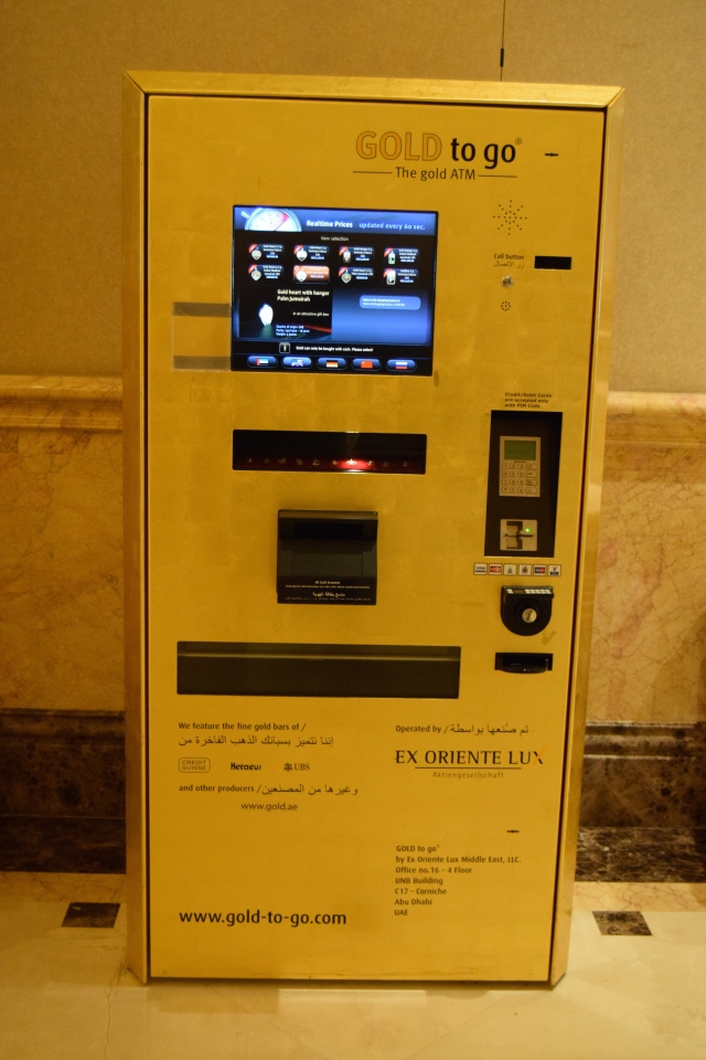 Gold dispenser cash machine