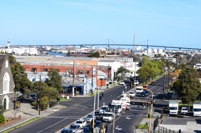 View towards the Westgate Bridge