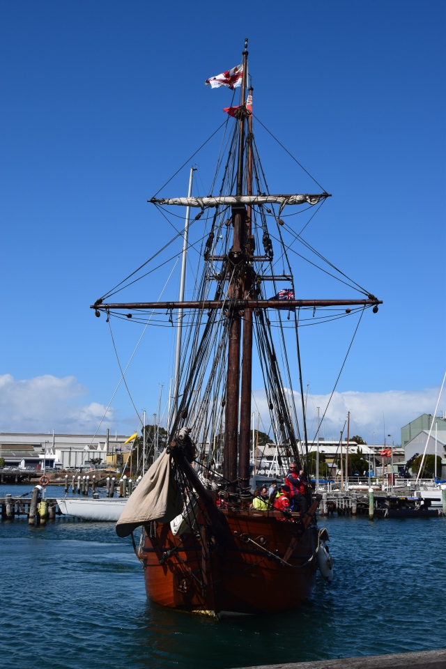 The Endeavour returning to Port.